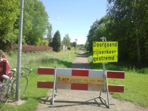 Route wijziging Maandag 10 KM: Rechts Oostermeenthepad, Links tegelpad, Rechts De Wiende, Driesprong Rechts, Links De beugel,