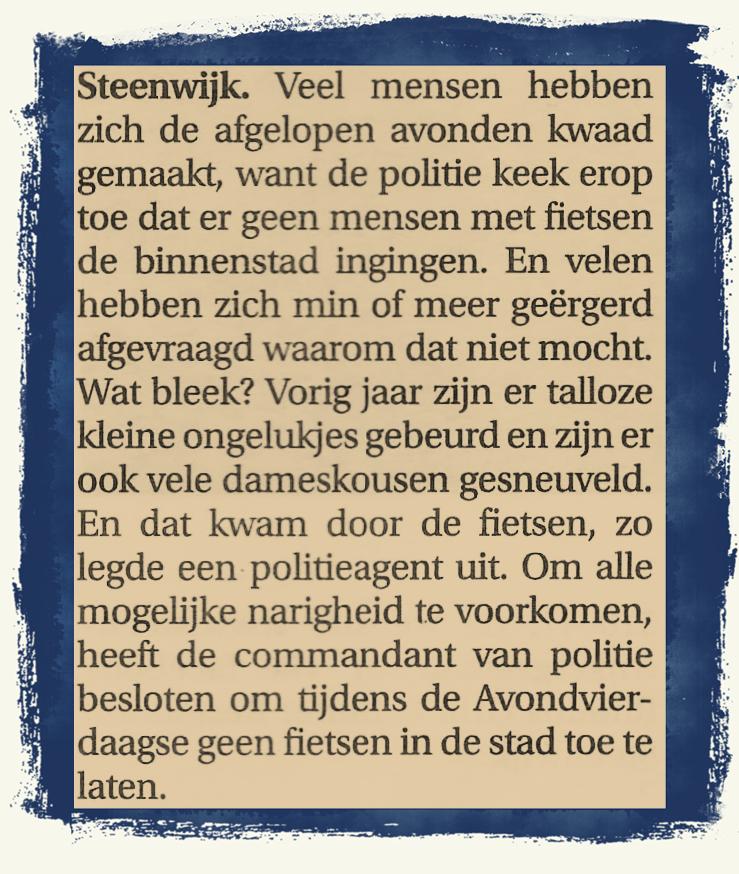 Bron: Steenwijker Courant Vrijdag 14 Juni 2013
